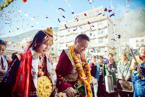 """阿坝师范学院:藏文化""""传统藏式婚礼"""""""